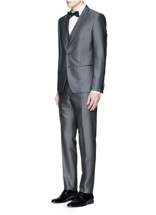 Figure View - Click To Enlarge - Dolce & Gabbana - 'Sicilia' check jacquard three piece tuxedo suit