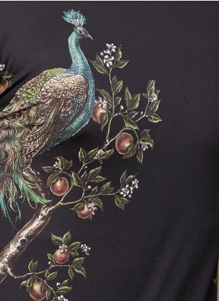 Detail View - Click To Enlarge - Dolce & Gabbana - Peacock print T-shirt
