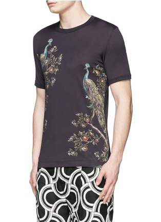 Front View - Click To Enlarge - Dolce & Gabbana - Peacock print T-shirt