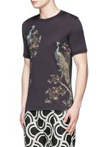 Peacock print T-shirt