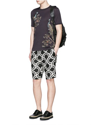 Figure View - Click To Enlarge - Dolce & Gabbana - Peacock print T-shirt