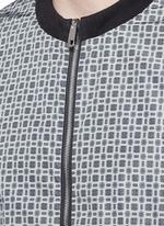 Reversible monkey bandana print blouson jacket