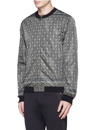 Detail View - Click To Enlarge - Dolce & Gabbana - Reversible monkey bandana print blouson jacket