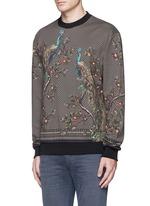 Peacock print sweatshirt