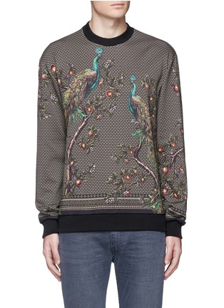Main View - Click To Enlarge - Dolce & Gabbana - Peacock print sweatshirt