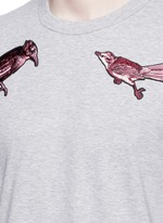 Bird patch embroidery cotton T-shirt