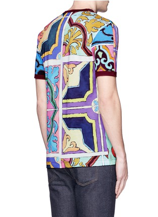 Back View - Click To Enlarge - Dolce & Gabbana - Mosaic print T-shirt