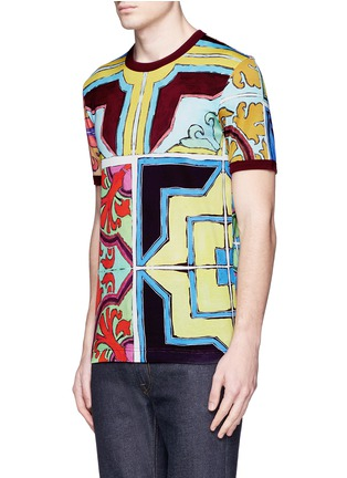 Front View - Click To Enlarge - Dolce & Gabbana - Mosaic print T-shirt