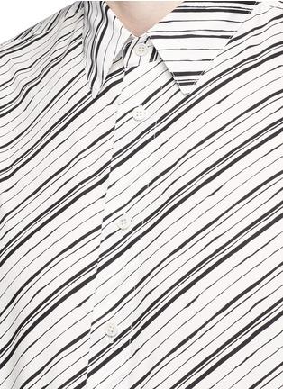 Detail View - Click To Enlarge - Dolce & Gabbana - Diagonal stripe cotton poplin shirt