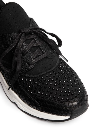 Detail View - Click To Enlarge - Ash - 'Mood' crystal snakeskin effect neoprene sneakers
