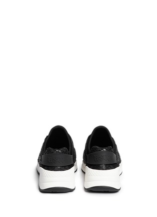 Back View - Click To Enlarge - Ash - 'Mood' crystal snakeskin effect neoprene sneakers