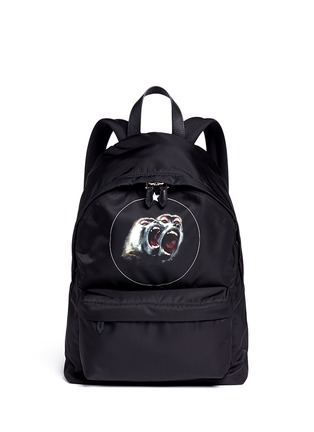 Givenchy-Monkey print nylon backpack