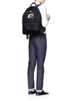 Monkey print nylon backpack