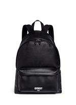 Logo print leather backpack