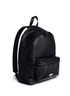 GivenchyLogo print leather backpack