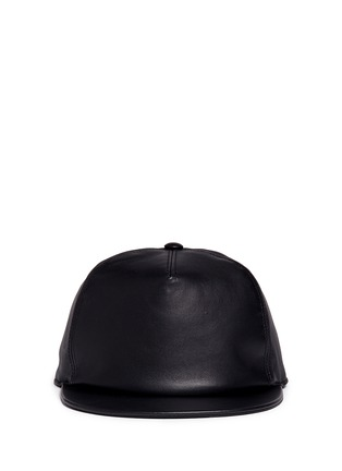 Main View - Click To Enlarge - Givenchy - Logo embroidery leather snapback cap