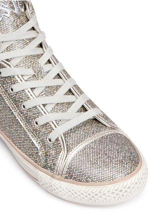 Detail View - Click To Enlarge - Ash - 'Virtigo' glitter mesh sneakers