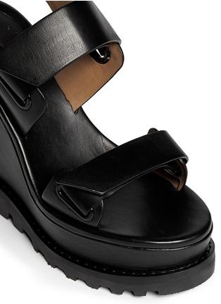 MARC BY MARC JACOBS-粘贴搭带坡跟凉鞋