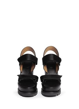 模特儿示范图 - 点击放大 - MARC BY MARC JACOBS - 粘贴搭带坡跟凉鞋