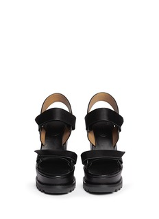 MARC BY MARC JACOBS Leather platform wedge sandals