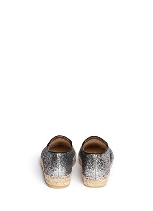 Back View - Click To Enlarge - Marc by Marc Jacobs - Glitter espadrille slip-ons