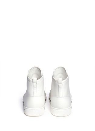 Back View - Click To Enlarge - MARC BY MARC JACOBS SHOES - Taped zip high top leather sneakers