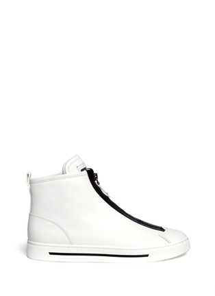 Main View - Click To Enlarge - MARC BY MARC JACOBS SHOES - Taped zip high top leather sneakers