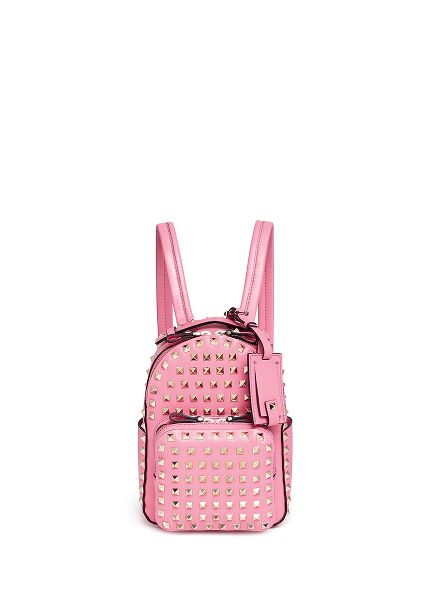 Rockstud mini leather backpack by Valentino