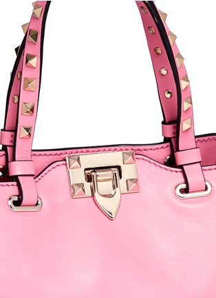 Detail View - Click To Enlarge - Valentino - 'Rockstud' mini leather tote