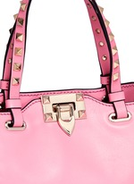 'Rockstud' mini leather tote