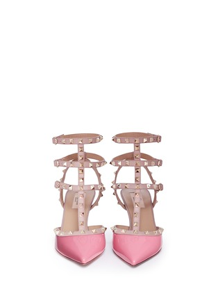 Figure View - Click To Enlarge - Valentino - 'Rockstud' caged patent leather pumps