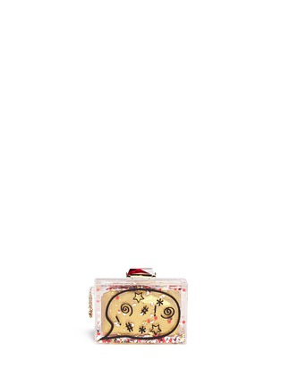 Back View - Click To Enlarge - KOTUR - '#*@' glitter globe Perspex clutch