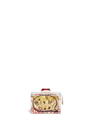 Main View - Click To Enlarge - KOTUR - '#*@' glitter globe Perspex clutch