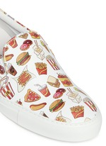 'Food' print leather skate slip-ons