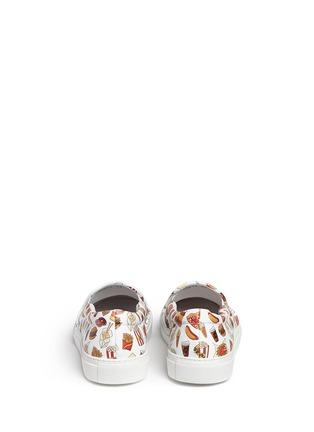背面 - 点击放大 - JOSHUA SANDERS - 'Food' print leather skate slip-ons