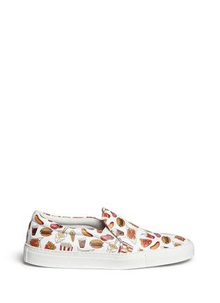 首图 - 点击放大 - JOSHUA SANDERS - 'Food' print leather skate slip-ons
