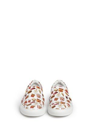 模特儿示范图 - 点击放大 - JOSHUA SANDERS - 'Food' print leather skate slip-ons