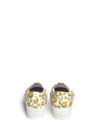 Back View - Click To Enlarge - Joshua Sanders - 'Happy Smile' print leather skate slip-ons
