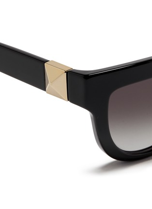 Detail View - Click To Enlarge - Valentino - 'Rockstud' temple acetate sunglasses