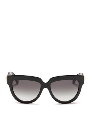Main View - Click To Enlarge - Valentino - 'Rockstud' temple acetate sunglasses