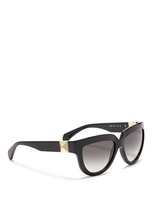 Figure View - Click To Enlarge - Valentino - 'Rockstud' temple acetate sunglasses