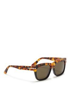 VALENTINO'Rockstud' tortoiseshell brow bar acetate sunglasses