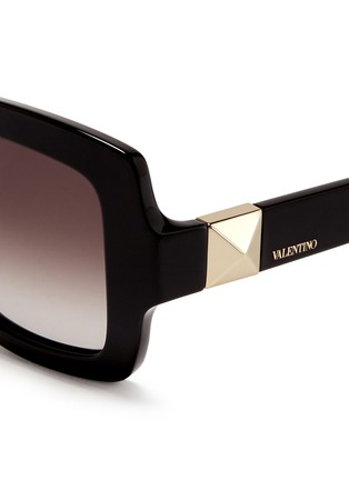Detail View - Click To Enlarge - Valentino - Chunky oversize square frame acetate sunglasses