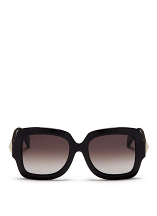Main View - Click To Enlarge - Valentino - Chunky oversize square frame acetate sunglasses