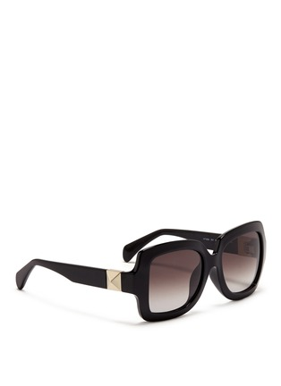 Figure View - Click To Enlarge - Valentino - Chunky oversize square frame acetate sunglasses