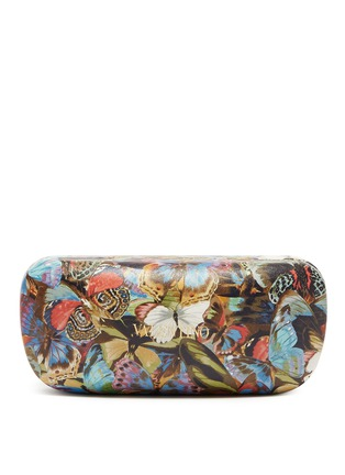Detail View - Click To Enlarge - Valentino - 'Camubutterfly' oversize round acetate sunglasses