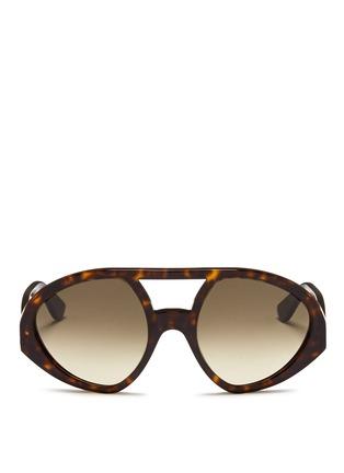 Main View - Click To Enlarge - Valentino - 'Maskaviator' tortoiseshell acetate angular sunglasses