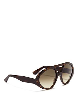 Figure View - Click To Enlarge - Valentino - 'Maskaviator' tortoiseshell acetate angular sunglasses
