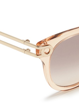 Detail View - Click To Enlarge - Chloé - Cutout metal temple acetate sunglasses