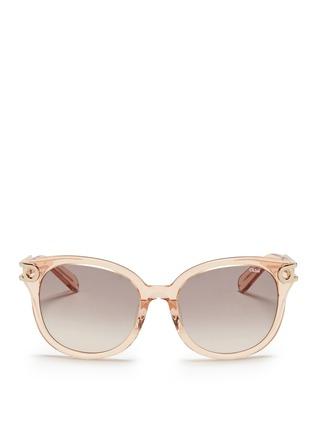 Chloé-Cutout metal temple acetate sunglasses